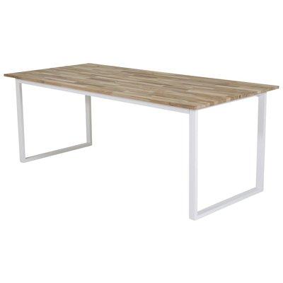 Spisebord Regald 200 cm - Hvit / Naturtre