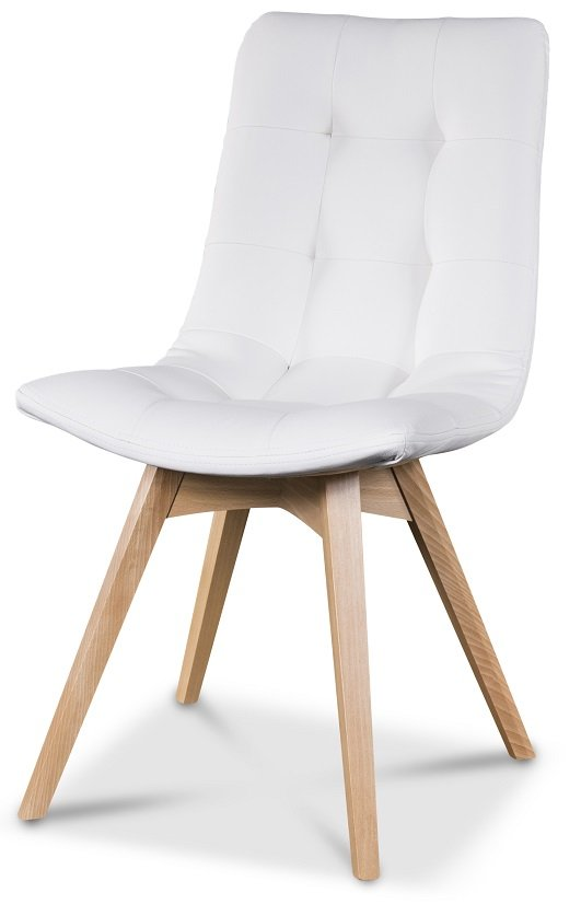grå spisestol med valnøtt bein