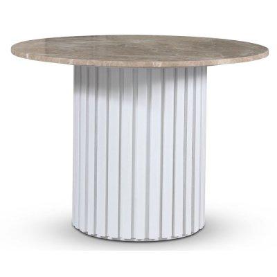 Empire spisebord - Empradore marmor / Hvit lamell trefot
