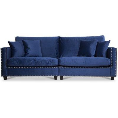 Bellino 4-seter sofa - Blå Fløyel