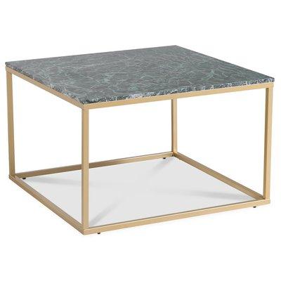 Accent stuebord 75 - Grønn marmor / Matt messing
