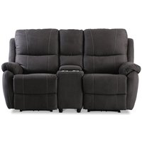 Enjoy Hollywood Biosofa - 2-seter recliner (el) i antrasitt mikrofiber