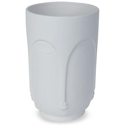 Vase Face H23 cm - Hvit