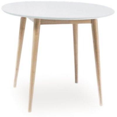 Spisebord Desiree - Hvit/lys eik