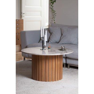 Matisse rundt stuebord i marmor - Eik/Marmor