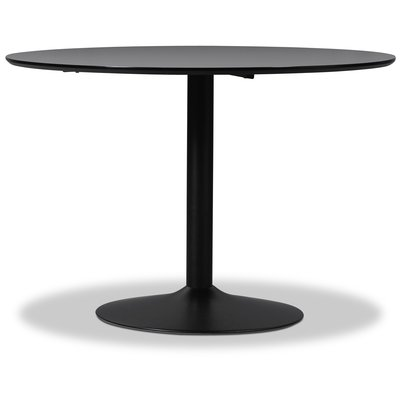 Seat spisebord høytrykkslaminat - Svart - ø110 cm