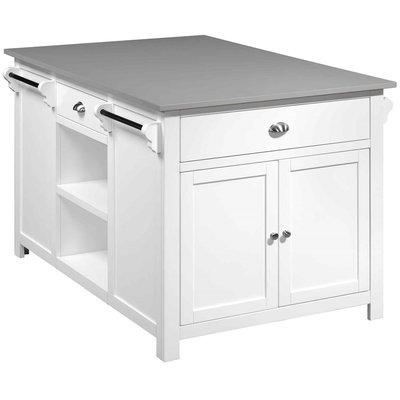 Heritage kjøkkenøy - Hvit/grå