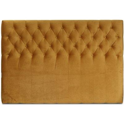 Anna senggavle med knapper (Gull fløyel) - Valgfri bredde