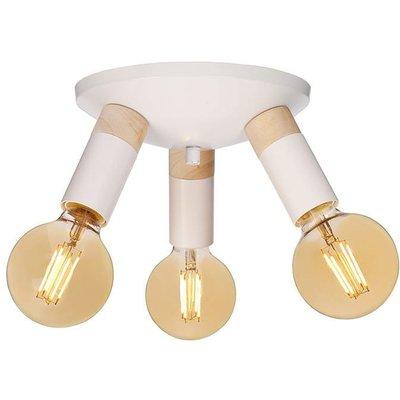 Spartan Wood taklampe - Hvit/tre