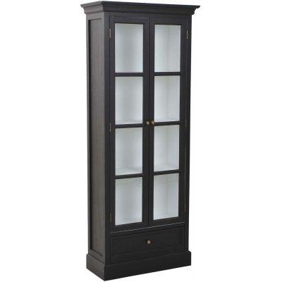 Holmby vitrineskap - Sort/hvit