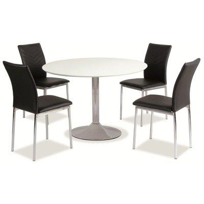 Spisebord Bardstown 90ø cm - Hvitt