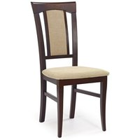 Kara stol - mørk valnøtt/beige