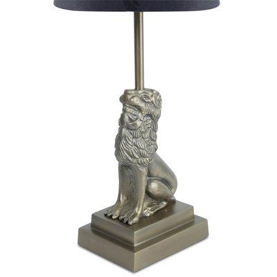 Løve lampefot H32 cm - Antikk Messing