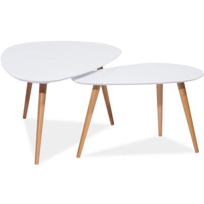 Satsbord Linköping - Hvitt/bøk