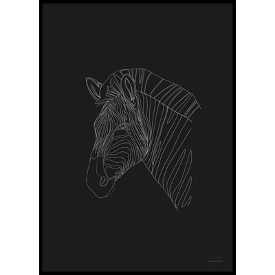 DIGITAL ZEBRA - Plakat 50x70 cm