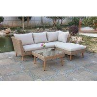 Askerød utemøbelgruppe sofa med bord - Natur kunstrotting
