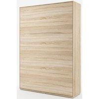 Sengeskap compact living vertikalt (140 x 200 cm fellbar seng) - Lys eik