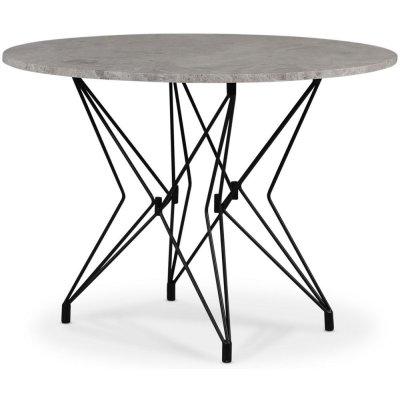 Zoo spisebord Ø105 cm - Svart / Sølvmarmor