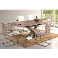 Spisebord Sebring 160-220 cm - Lys eik