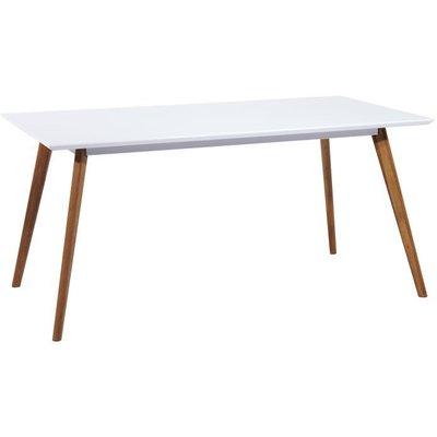Spisebord Hillerstorp 140 cm - Hvit/eik