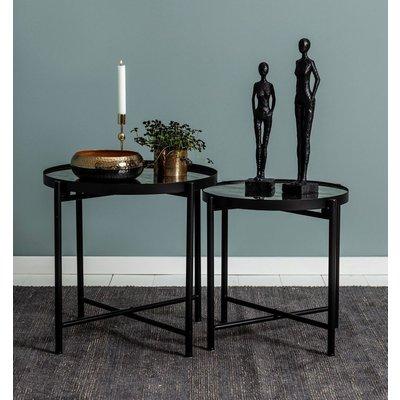 Satsbord Harper - Svart/speil