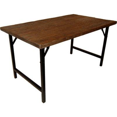 Öregrund spisebord 140 cm - Gjenvunnet tre/metall