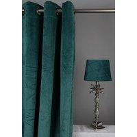 Velvet Gardinpar 240x140 cm - Grønn