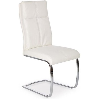 Stol Bonita - Hvit/krom