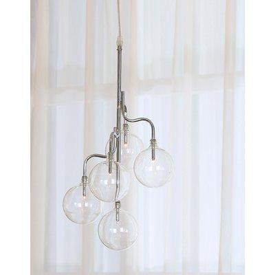 Kule taklampe - Krom / Glass