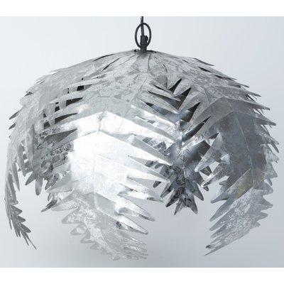 Palmeblad Taklampe - Sølv