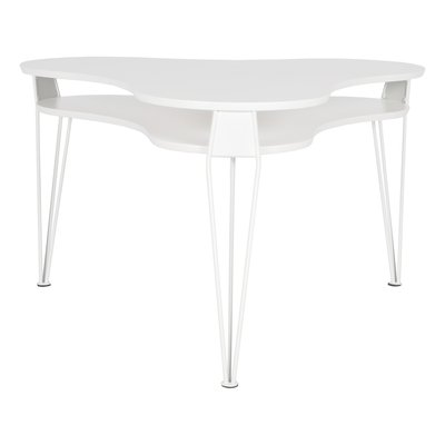 Ester sofabord trekløver - Hvit
