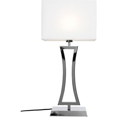 Belgravia bordlampe - Krom/hvit