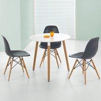 Nesto rundt spisebord - Hvit