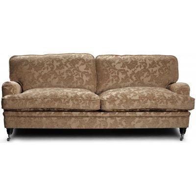 Howard Sir William 3-seter sofa (Dun) - Mobus Darkbeige Floral