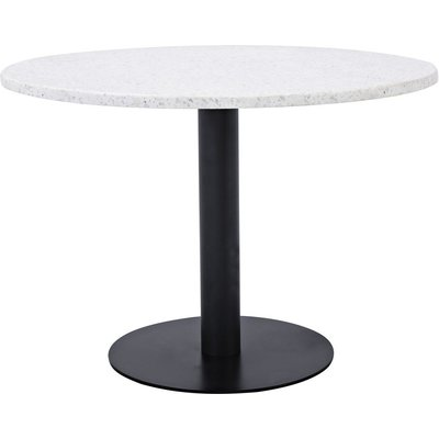 Spisebord Basebox ø106 cm - Svart / Hvit Terrazzo