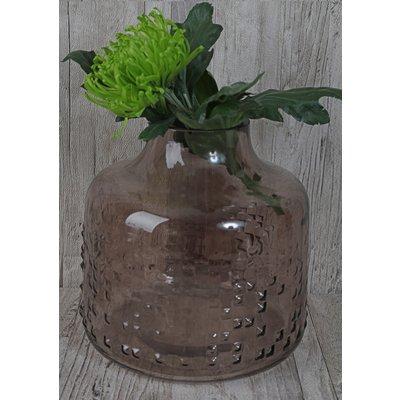 Vase Circle H19 cm – Gråtone