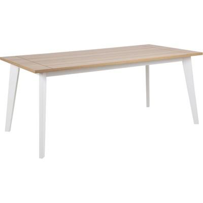 Derry spisebord 180 cm - Eik/Hvit