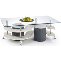 Meeting sofabord med sittepuffer - Mørk grå/grå