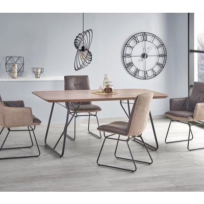Merit Spisebord - valnøtt/svart