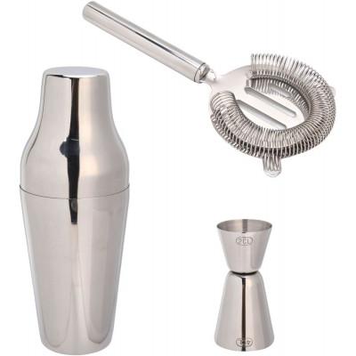 Sontell drinksett - Blankt stål
