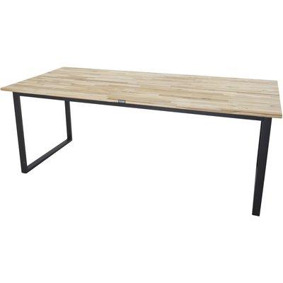 Spisebord Regald 200 cm - Svart / Naturtre