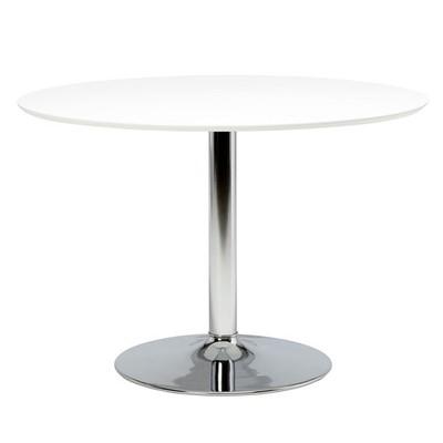Ibiza spisebord ø110 - Hvit/krom