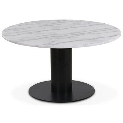Next 85 rundt stuebord - Svart / marmor (Vit)