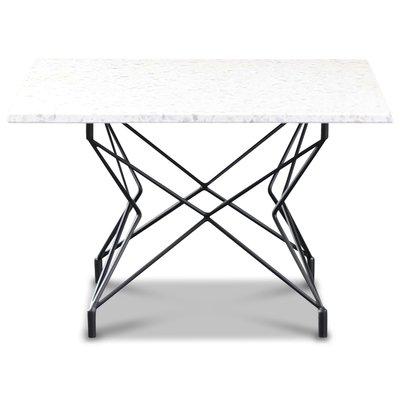Terrazzo sofabord 75x75cm - Bianco Terrazzo & underdel Star svart