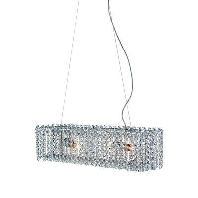 Trollenäs taklampe - Krom/krystall