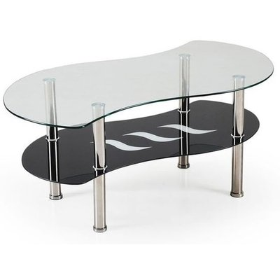 Ciara sofabord - Sort/glass
