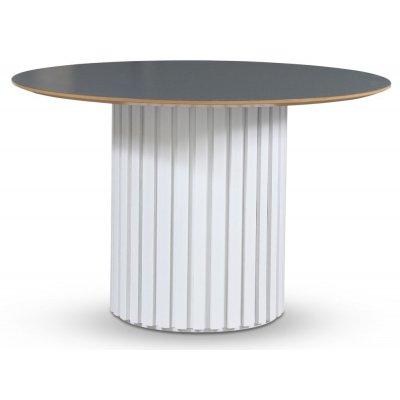 Empire spisebord - Perstorp mørk virrvarr 118 cm / Hvit lamell trefot