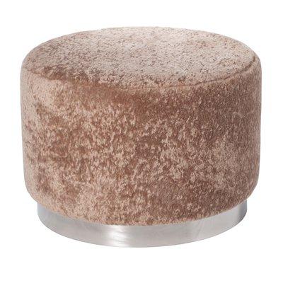 Furry sittepuff 50 cm - Beige / Krom