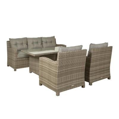 Moreno sofagruppe - Lys grå