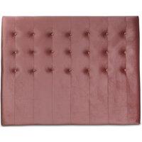 Centa senggavle med knapper (Rosa fløyel) - Valgfri bredde